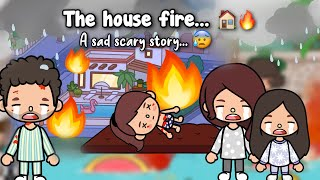 THE HOUSE FIRE!?   Toca Scary story!  Toca shine