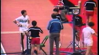 McEnroe vs Lendl - Amazing and Controversial Championship Point