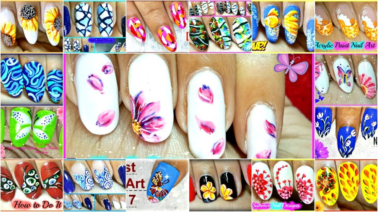 Nail Designs With Acrylic Paint On Nails
