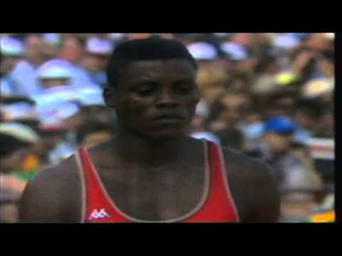 Carl Lewis Winning Four Gold Medals At The Olympic Games 1984!