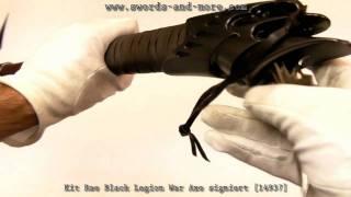Kit Rae Black Legion War Axe signiert [14937]