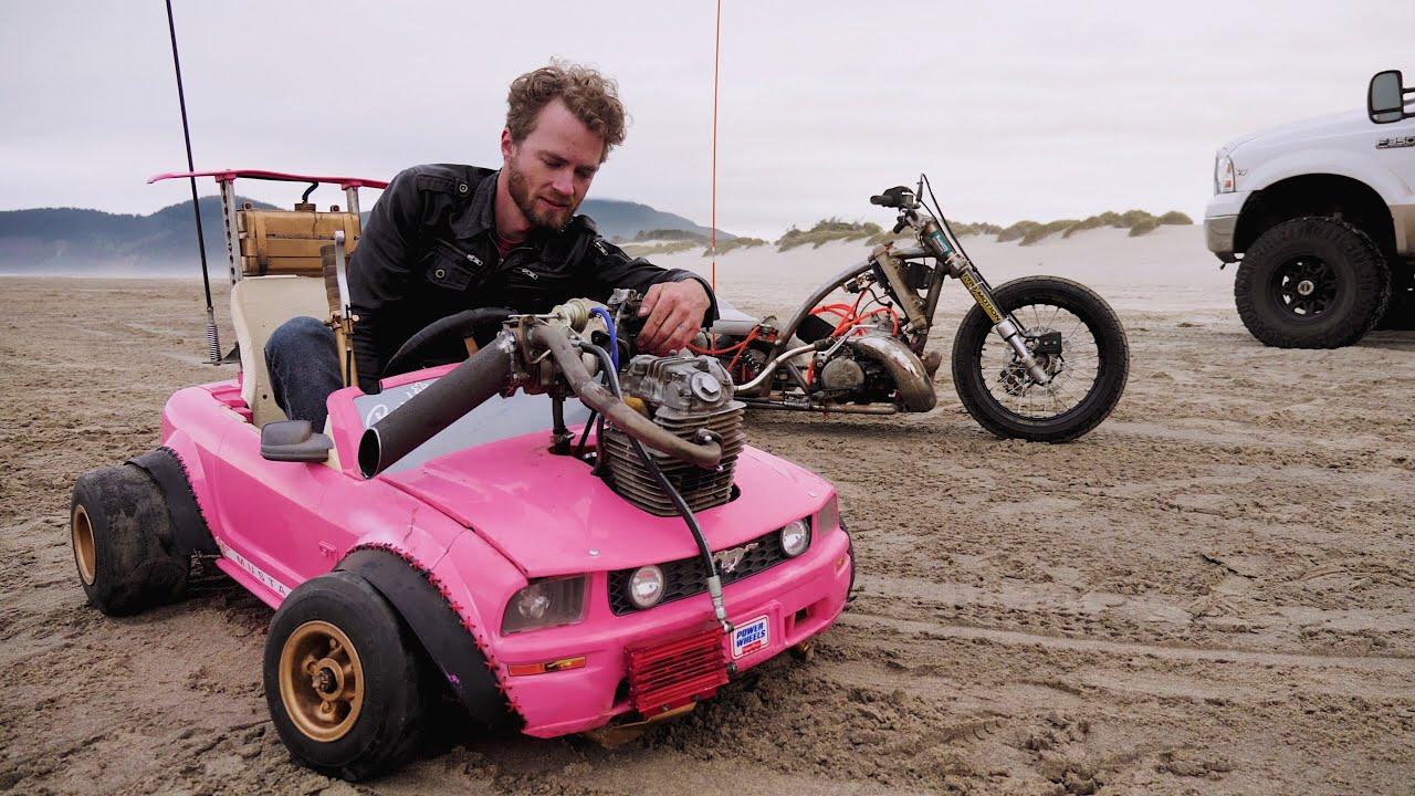 Barbie Car Turbo #2 Testing and Driving on the Oregon Coast 4K