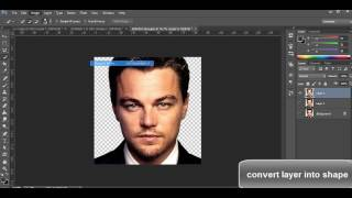 how to convert layer to shape in photoshop CC