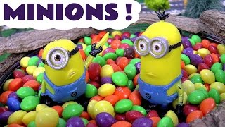minions thomas and friends open funny kinder surprise eggs stop motion toys batman mlp and frozen