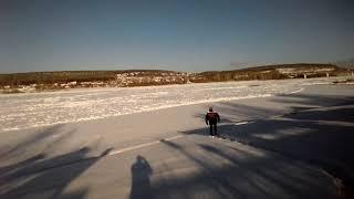 Ледостав на реке Томи в Кемерово 2018