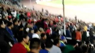 Волна на стадионе Спартак в Бишкеке. Матч Кыргызстан- Таджикистан. 2:2