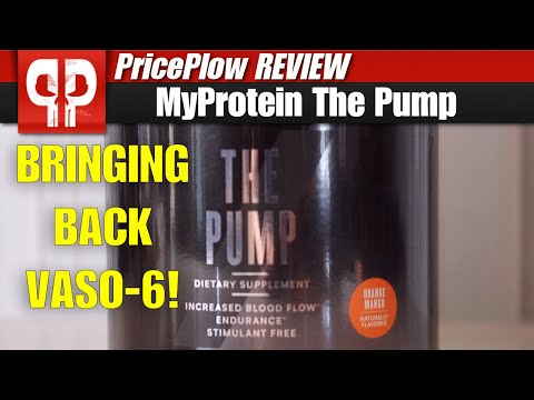 VASO6 is BACK in Myprotein's THE PUMP Stim-Free Pre Workout!