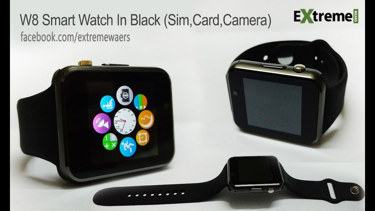 A1,W8,GT08,Iwatch Smart Watch SIM Card Setup & Demo