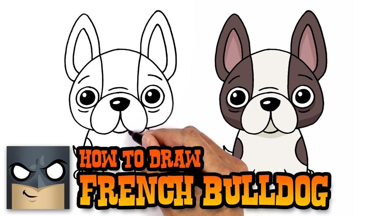 How To Draw French Bulldog Art Tutorial Youtube