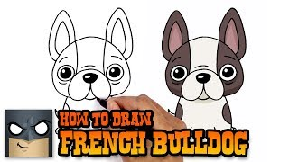 How to Draw French Bulldog | Art Tutorial