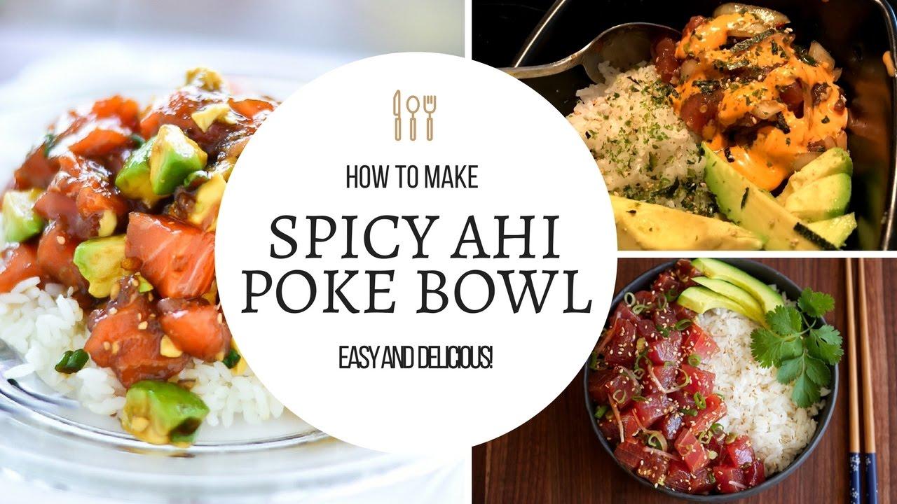 HOW TO MAKE AHI POKE! (SPICY POKE BOWL) | In Da Kitchen - YouTube