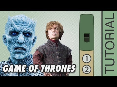Game Of Thrones Theme - Tin Whistle Tutorial With Tabs & Notes - EASY!!!