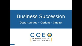 Business Succession Today - CCEO Short Presentation