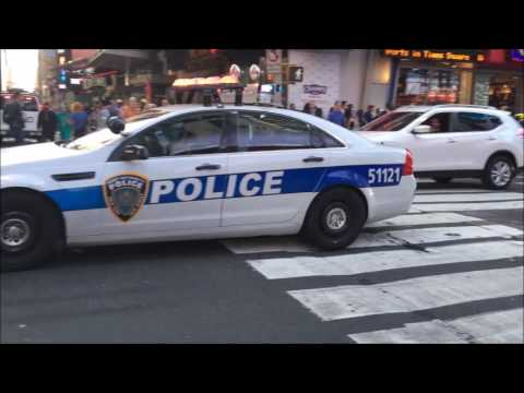 RARE CATCH OF A NY & NJ PORT AUTHORITY POLICE CRUISER & 2 UNMARKED UNITS RESPONDING IN MANHATTAN.