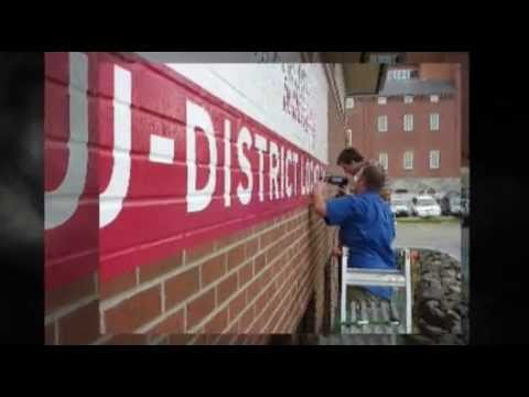 Brick Wall Advertising Wrap For University Youtube