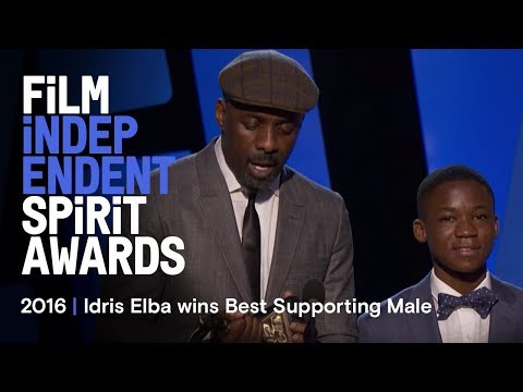 Idris Elba wins Best Supporting Male at the 2016 Film Independent Spirit Awards