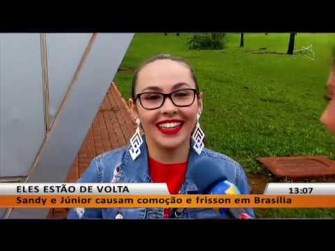 JL - Sandy e Júnior causam comoção e frisson em Brasília