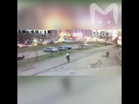 Видео обрушения жилого дома в Ижевске
