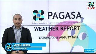 Public Weather Forecast Issued at 4:00 PM August 18, 2018
