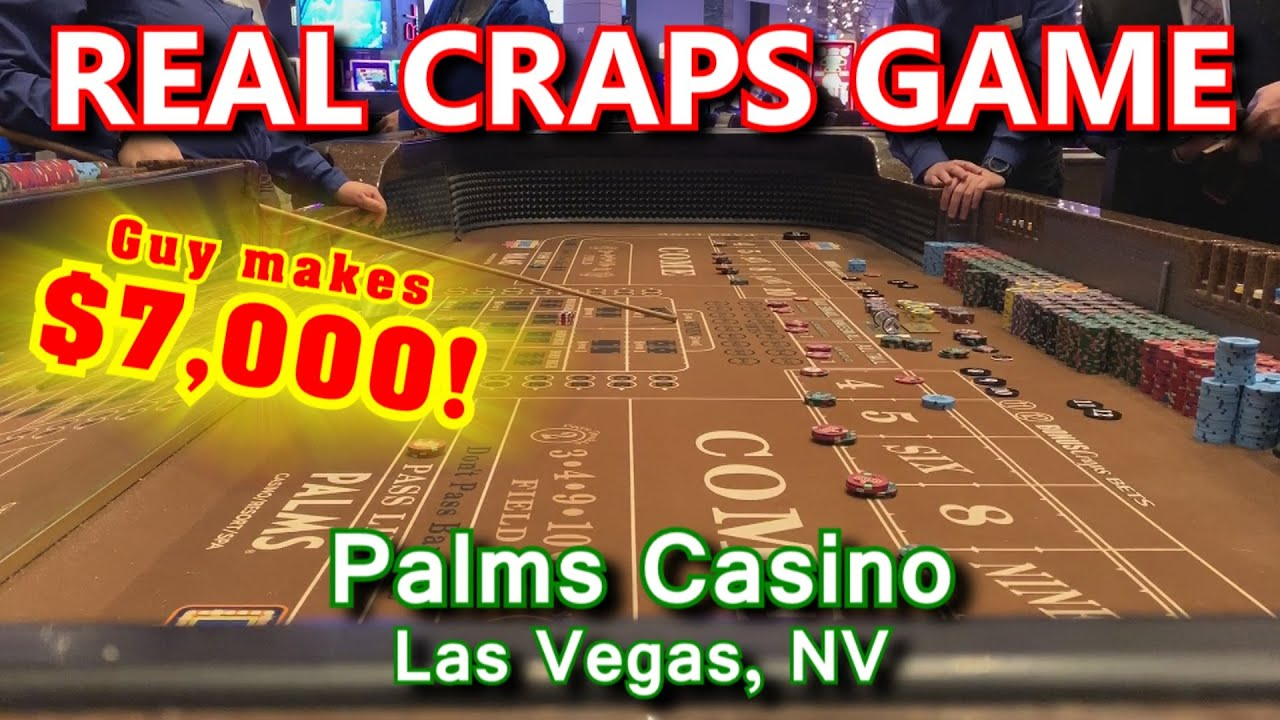 How To Roll 35 Times Live Craps Game 39 Palms Casino Las
