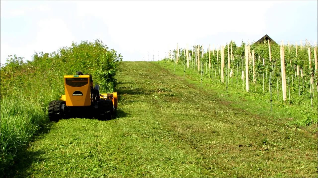 Robocut robocut in vineyard near brezice - youtube