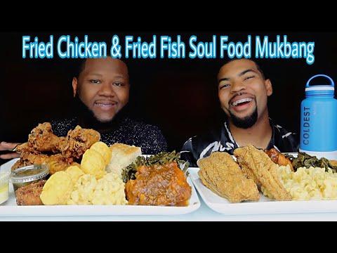 SOUL FOOD MUKBANG + FRIED FISH + FRIED CHICKEN + MAC CHEESE + GREENS | BY Flavasbydamedash