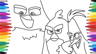 Gambar cover Angry Birds Movie Coloring Pages for Kids, How to Draw Angry Birds for Kids