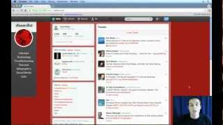 Twitter Tutorial 2013 - Introduction and User Interface (1/4)