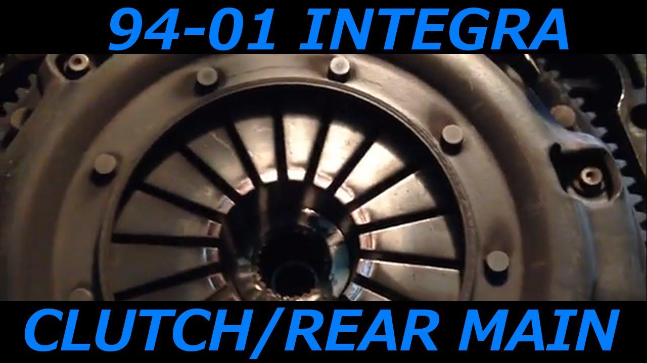 medium resolution of acura integra 94 01 clutch transmission and rear main seal removal rh youtube com cj5 clutch diagram clutch assembly diagram