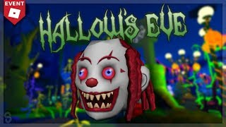 EVENTO COMO OBTER A MÁSCARA DE CABEÇA DE PALHAÇO! | Véspera de Hallow 2018 | Evento Roblox Halloween