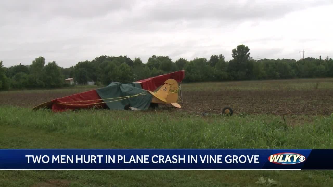 2 men seriously injured in Vine Grove plane crash