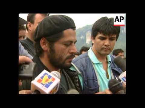 COLOMBIA: REBELS RELEASE 9 HOSTAGES