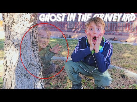 Ghost In The Graveyard! Fun Family Game On The Beach House!