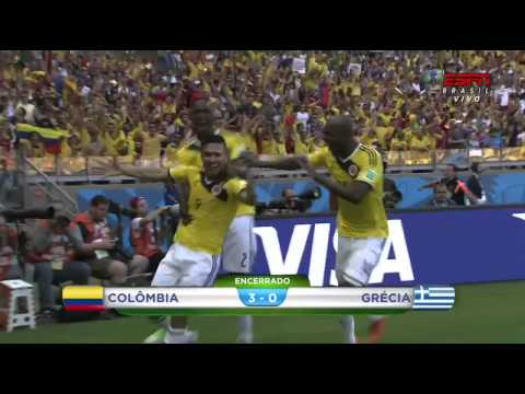 Colombia 3 - 0 Greece - World Cup 2014 Brazil