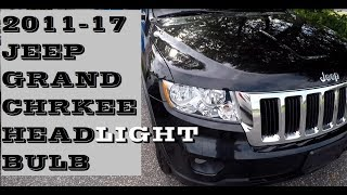 How to change replace Headlight bulb in Jeep Grand Cherokee 2011-2017