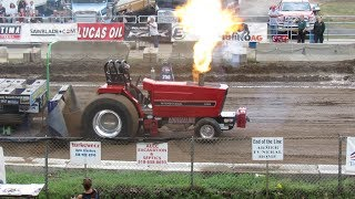 2018 NYTPA Super Stock Tractor Pulls at Saratoga County Fair in Ballston Spa