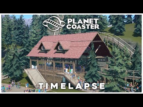 Planet Coaster Timelapse: Pinewood Peak #10 (Splinter Station)