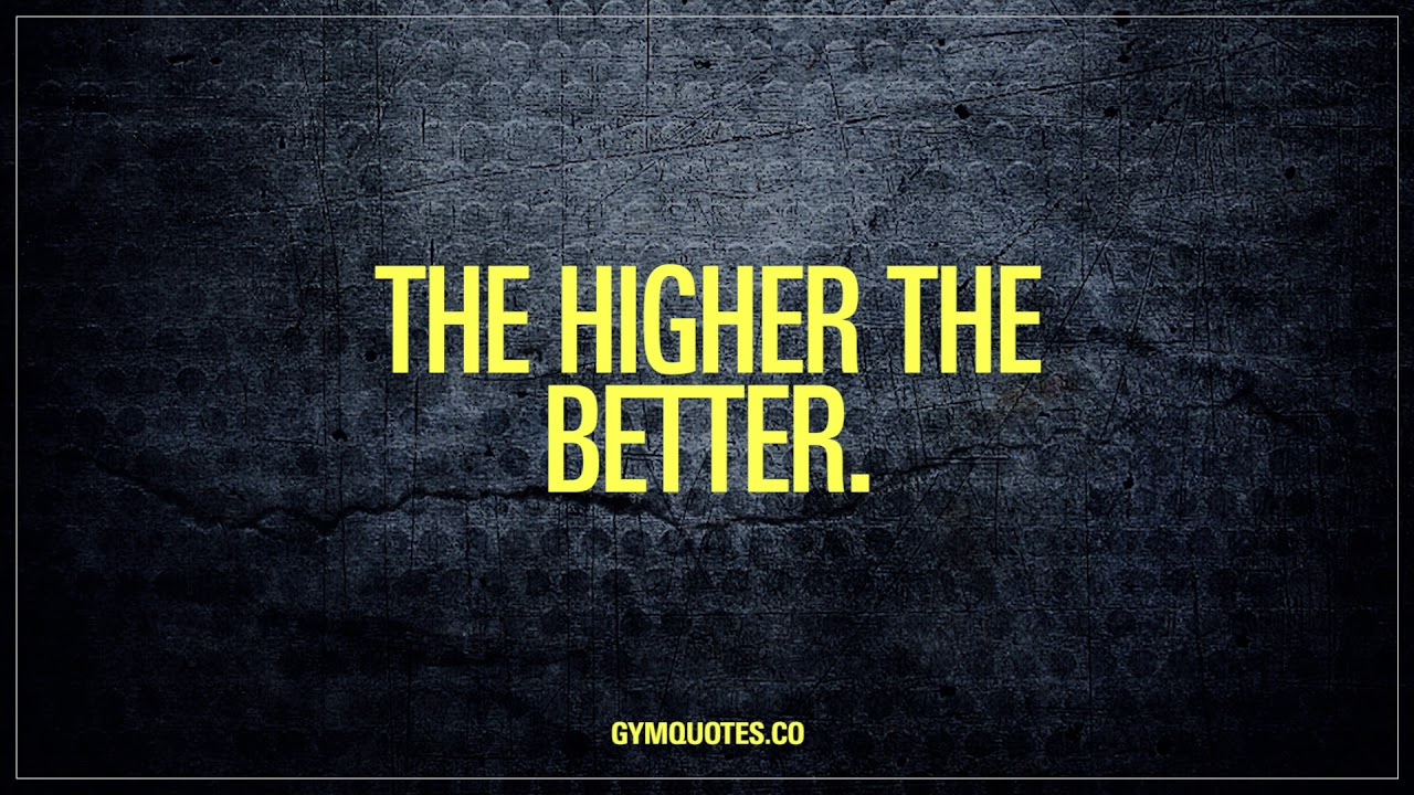 Aim High. Motivational Gym And Fitness Quotes From