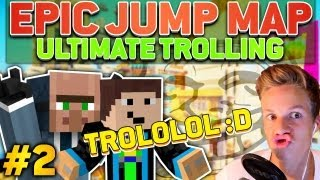 Minecraft ULTIMATE TROLLING #2 [CAM] - Epic Jump Map - /kick TROLL :D | ConCrafter & GommeHD
