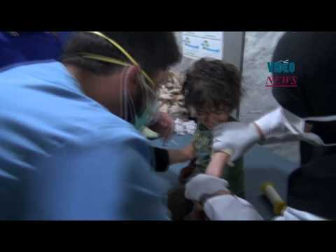 Alleged chlorine gas attack of Syrian regime forces on Idlib