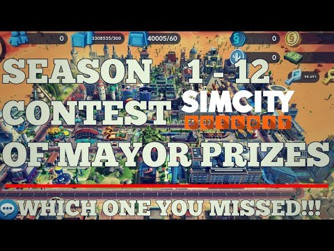 SimCity Buildit Contest Of Mayors Season Prizes