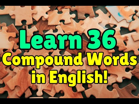 English Vocabulary: Compound Words