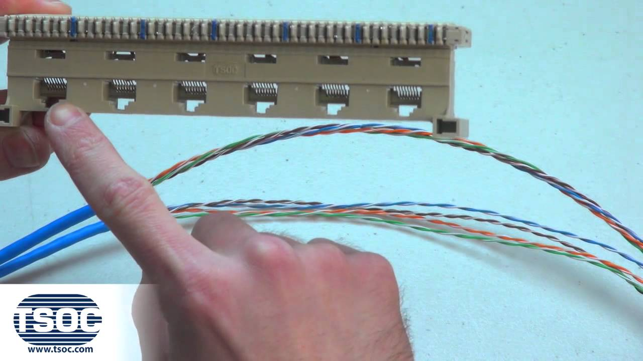 110 Punch Down Block Wiring Diagram How To Terminate A 6 Port Rj45 Bix 46di Modular