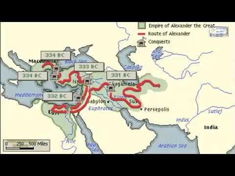 EMPIRE OF ALEXANDER THE GREAT MAP ANIMATION - YouTube
