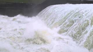 Lake Texoma - Floodgates and Spillway - 2015 Flood