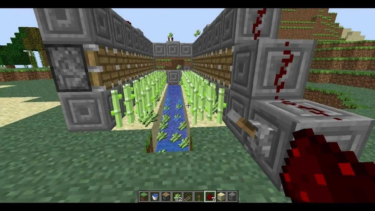 DJ&Riggaz: Minecraft Auto-Harvesting Sugar Cane Farm - YouTube