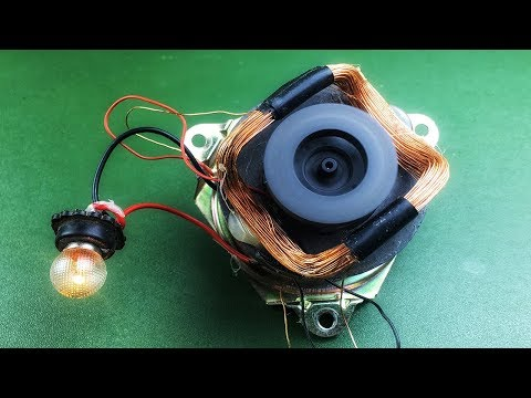 Speaker Magnet Generator With DC Motor Electric , Free Energy Device 2018