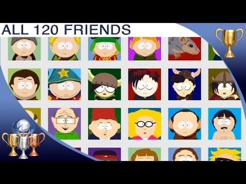 South Park The Stick Of Truth - ALL Friends (120) Collectibles Locations - Every Friend