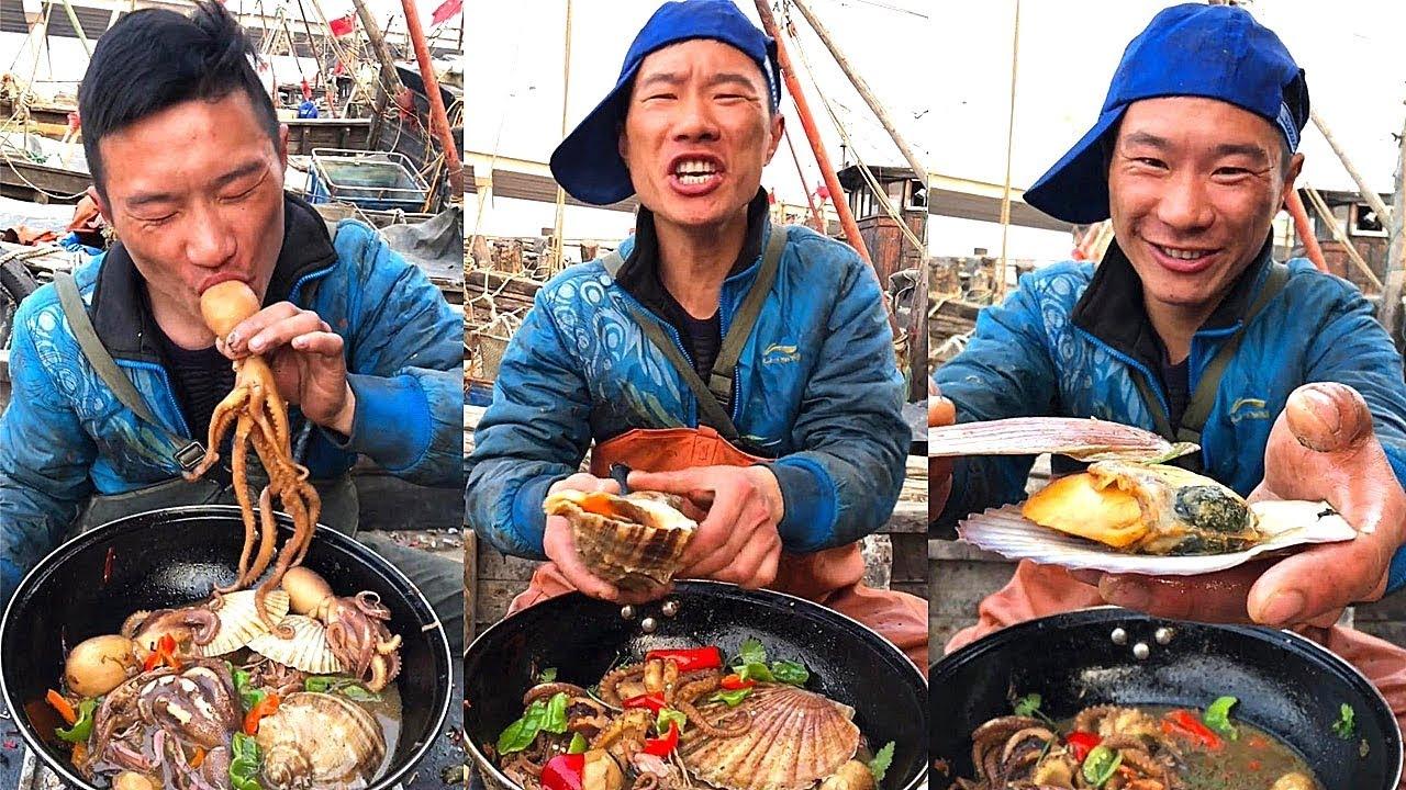 【大食い 】超激辛の生タコ 、中華料理はユニクですね!日本人なら出来ないな。。。!シーフドチャレンジ 、パート 一百九
