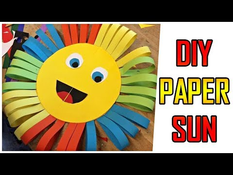 HOW TO MAKE COLORFUL ORIGAMI 🌞 PAPER SUN 🌞 - DIY IDEAS - PAPER CRAFTS - Origami Arts